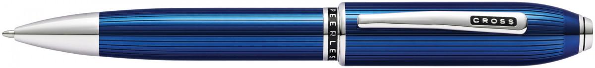 Cross Peerless 125 Ballpoint Pen - Quartz Blue Platinum Trim