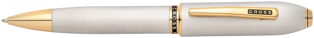 Cross Peerless 125 Ballpoint Pen - Medalist Platinum Plated & Gold Trim