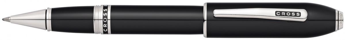 Cross Peerless 125 Rollerball Pen - Obsidian Black Lacquer Palladium Trim
