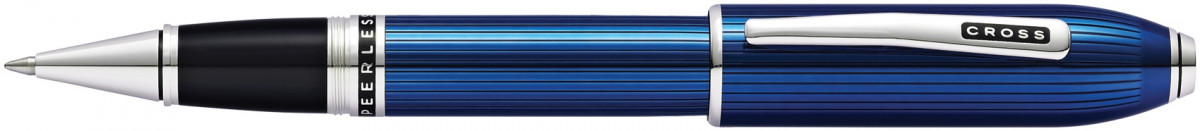 Cross Peerless 125 Rollerball Pen - Quartz Blue Platinum Trim