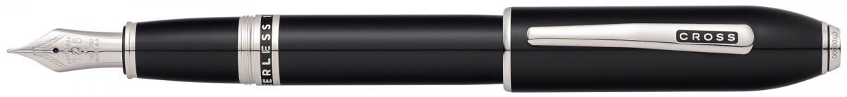 Cross Peerless 125 Fountain Pen - Obsidian Black Lacquer Palladium Trim