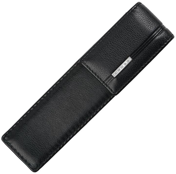 Cross Double Pen Pouch - Black Leather