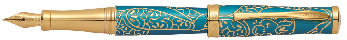 Cross Sauvage Fountain Pen - Tibetan Teal Gold Trim (Special Edition)