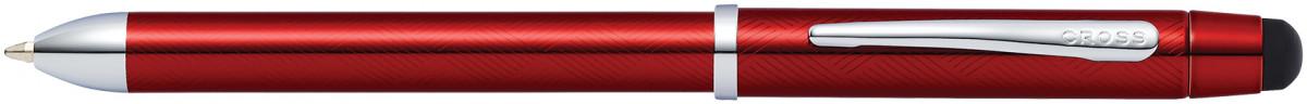 Cross Tech3+ Multipen - Translucent Red Chrome Trim