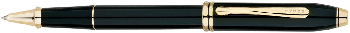 Cross Townsend Rollerball Pen - Black Lacquer Gold Trim