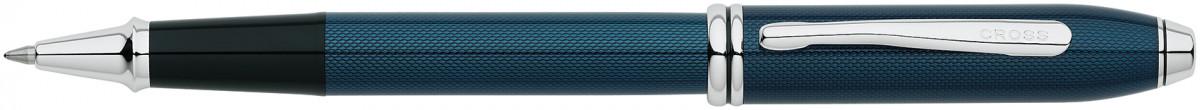 Cross Townsend Rollerball Pen - Quartz Blue Chrome Trim