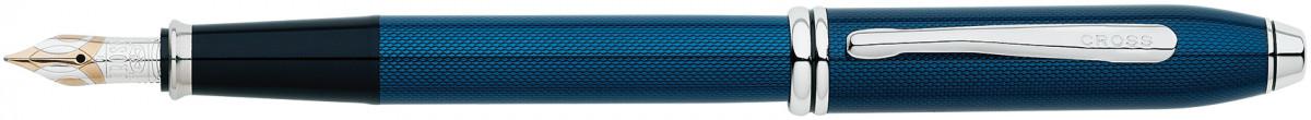 Cross Townsend Fountain Pen - Quartz Blue Chrome Trim