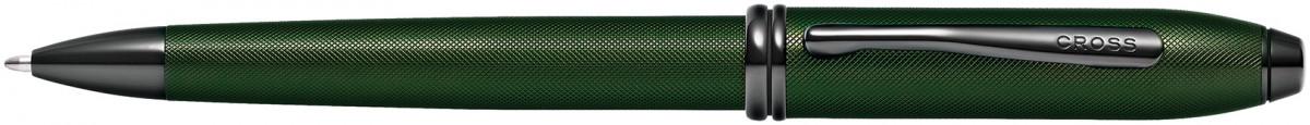 Cross Townsend Ballpoint Pen - Micro Knurled Green PVD