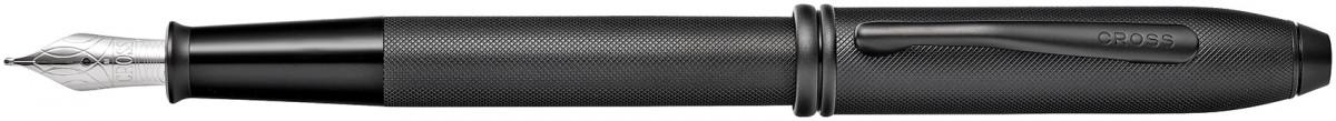 Cross Townsend Fountain Pen - Micro Knurled Black PVD