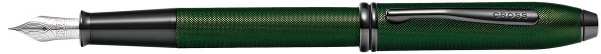 Cross Townsend Fountain Pen - Micro Knurled Green PVD