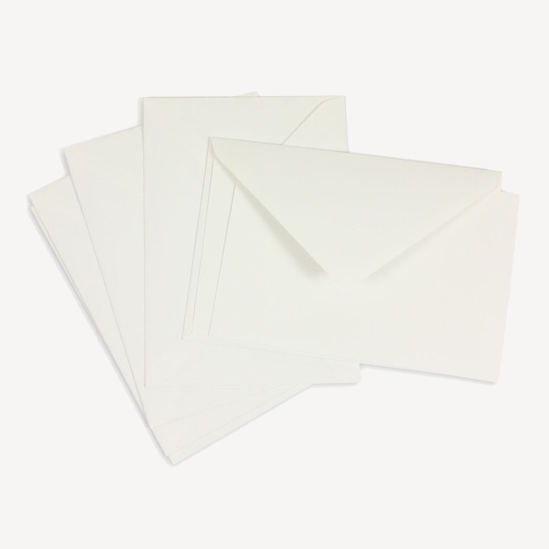Crown Mill Classics 9x14cm Set of 15 Cards and Envelopes - White