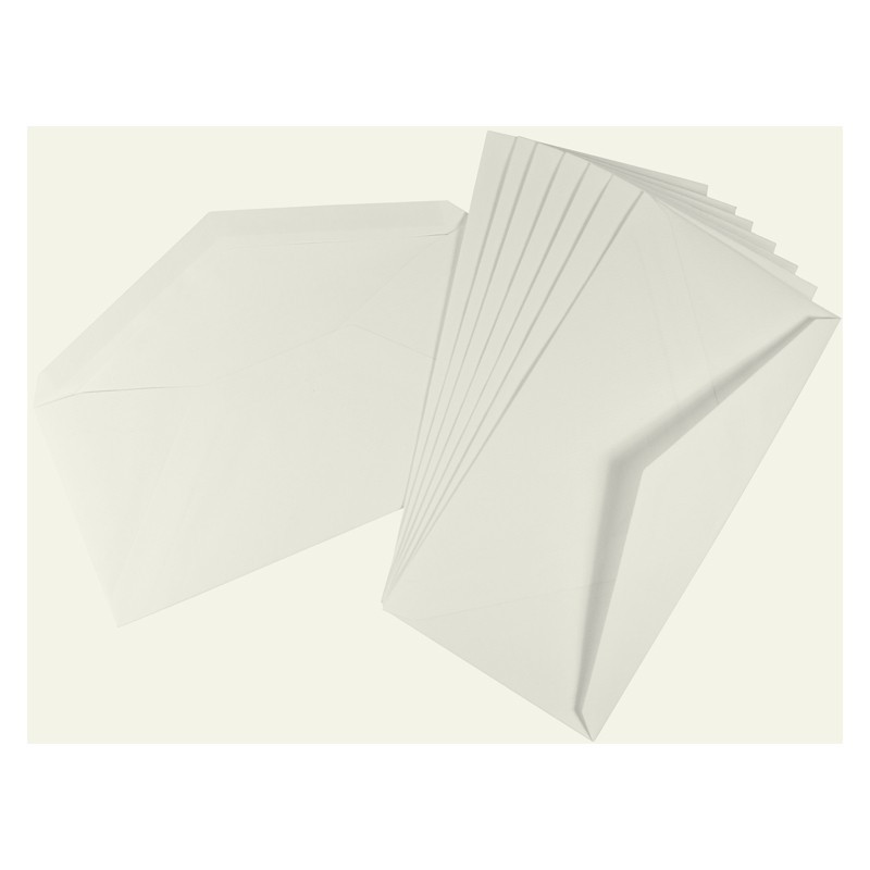 Crown Mill Classics DL Set of 15 Cards and Envelopes - White
