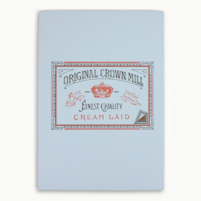 Crown Mill Classics A5 Paper Pad - 50 Sheets - Blue