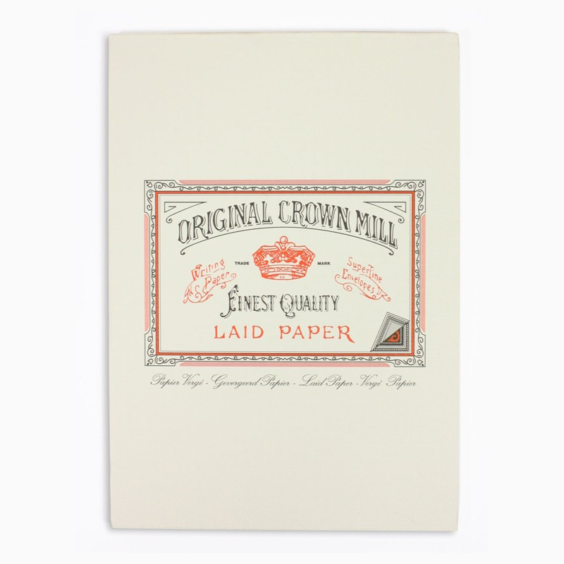 Crown Mill Classics A5 Paper Pad - 50 Sheets - Cream