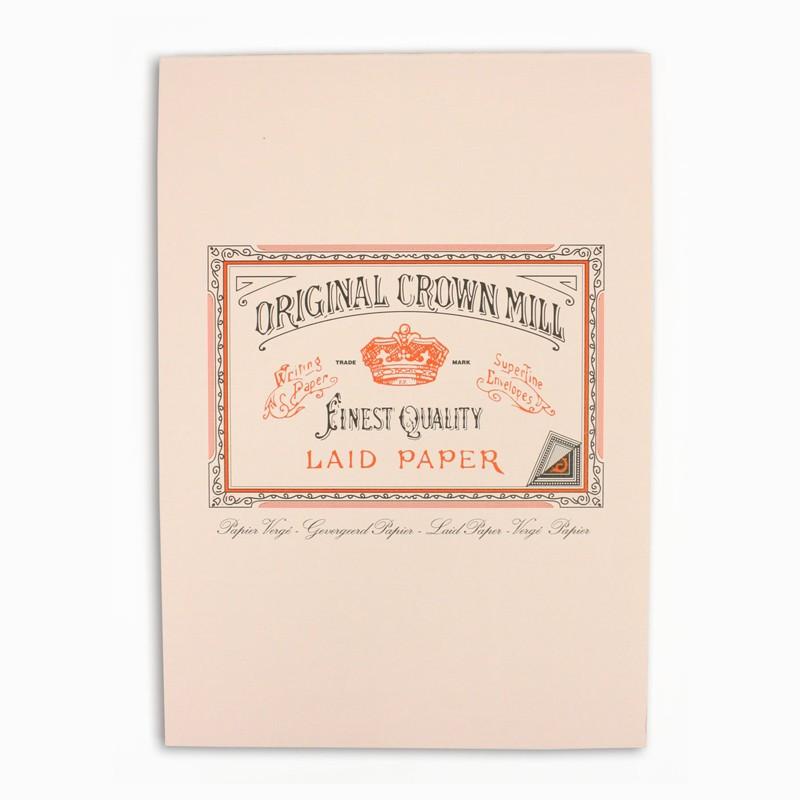 Crown Mill Classics A5 Paper Pad - 50 Sheets - Pink