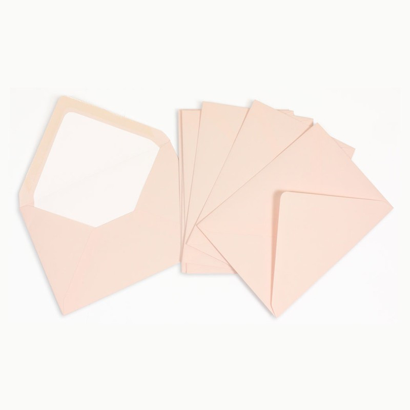 Crown Mill Classics C6 Envelopes - Pack of 25 - Pink