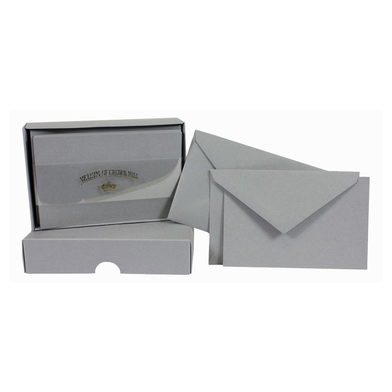 Crown Mill Colour Line Set of 25 Cards and Envelopes - Schist