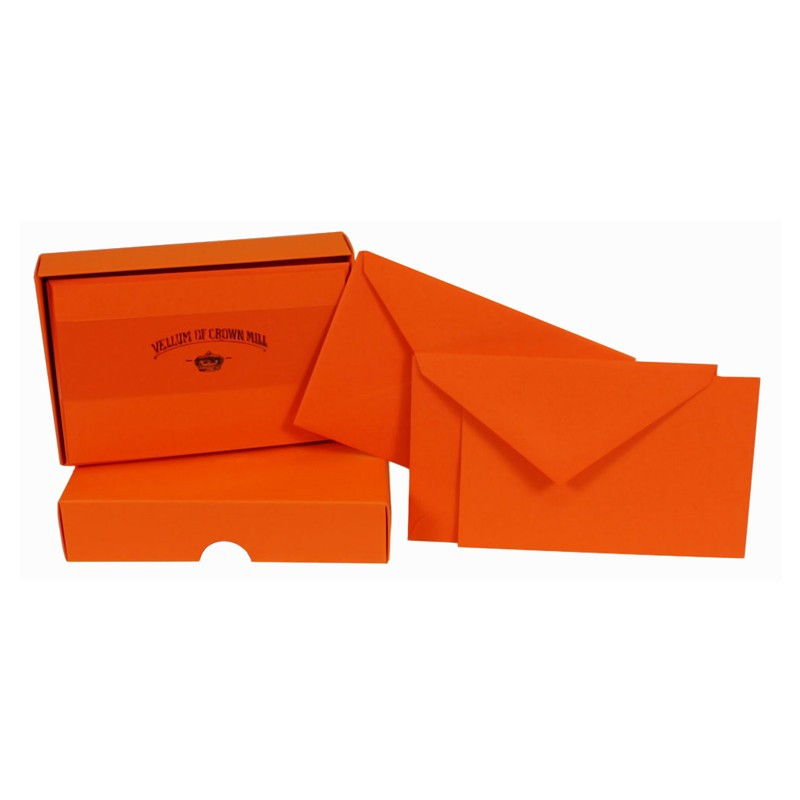 Crown Mill Colour Line Set of 25 Cards and Envelopes - Orange