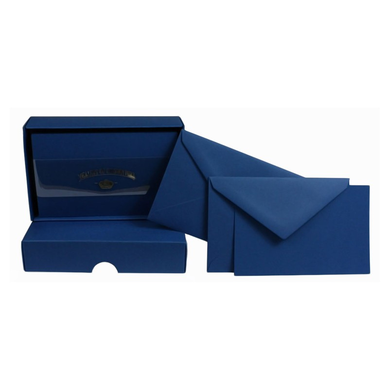 Crown Mill Colour Line Set of 25 Cards and Envelopes - Navy