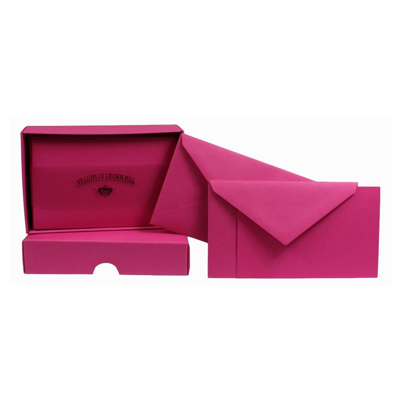 Crown Mill Colour Line Set of 25 Cards and Envelopes - Bougainvillea