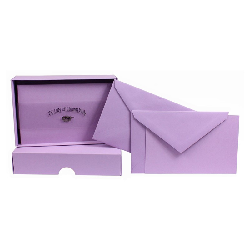 Crown Mill Colour Line Set of 25 Cards and Envelopes - Lavender