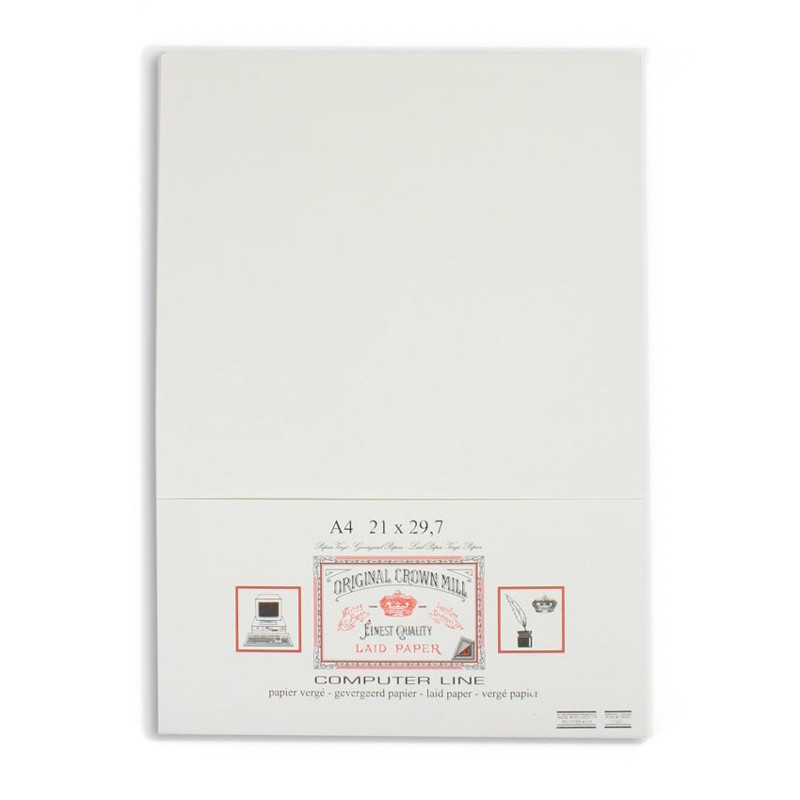 Crown Mill Computer Line A4 100gsm Paper - Pack of 50 - White