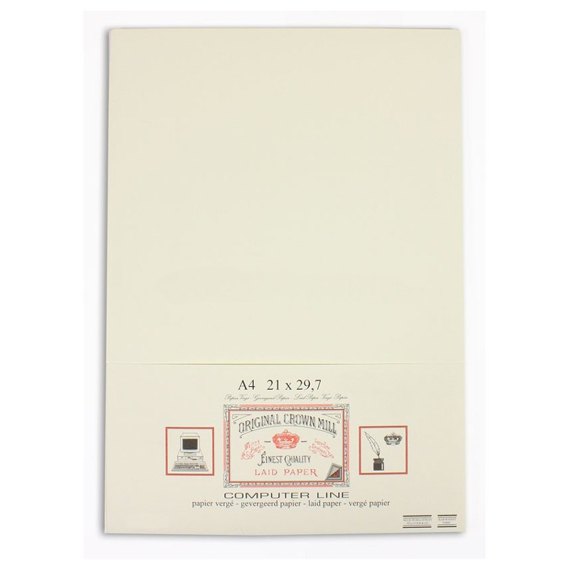 Crown Mill Computer Line A4 135gsm Paper - Pack of 50 - Cream