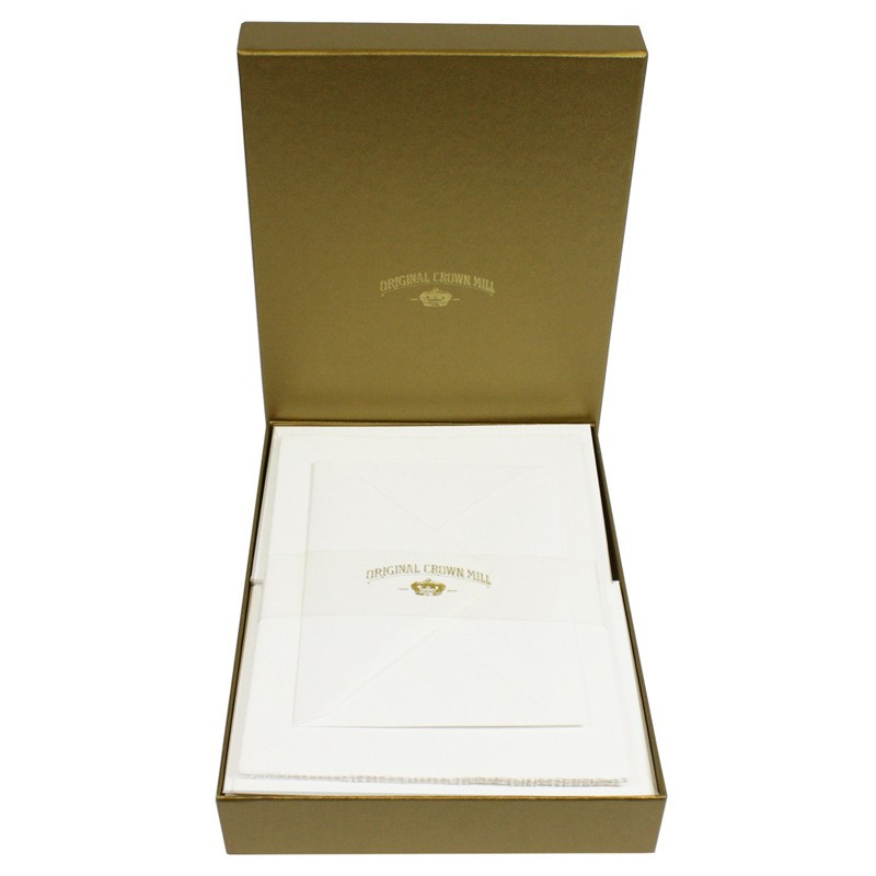 Crown Mill Golden Line C6 100gsm Set of 25 Sheets and Envelopes - White