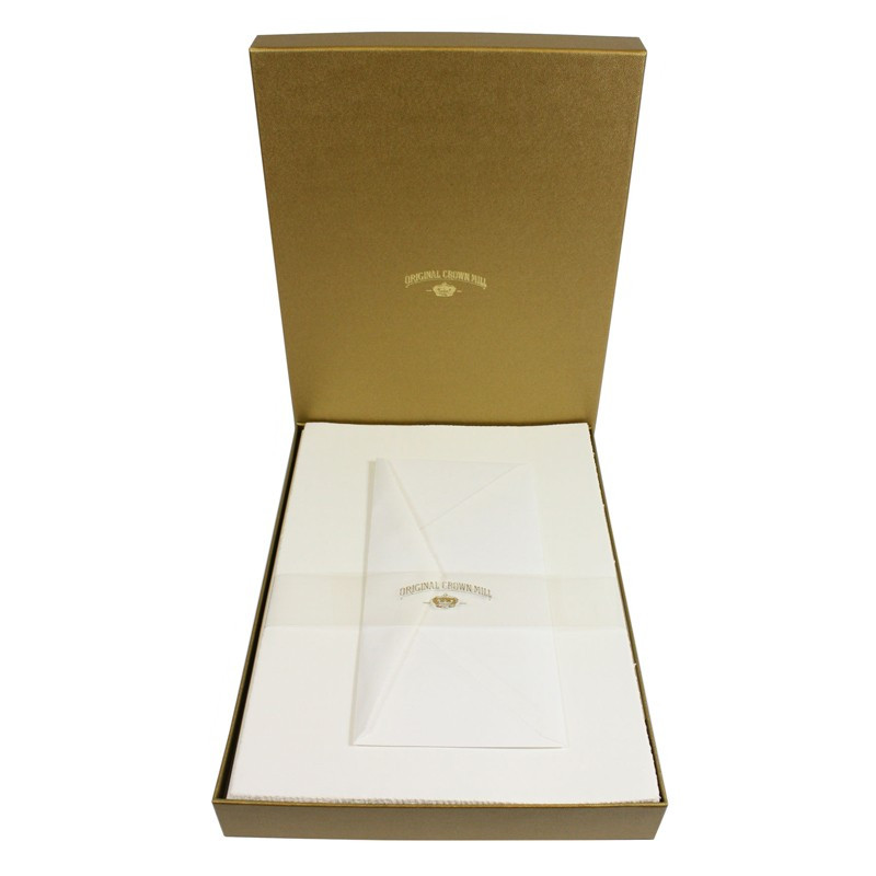 Crown Mill Golden Line DL 100gsm Set of 25 Sheets and Envelopes - White