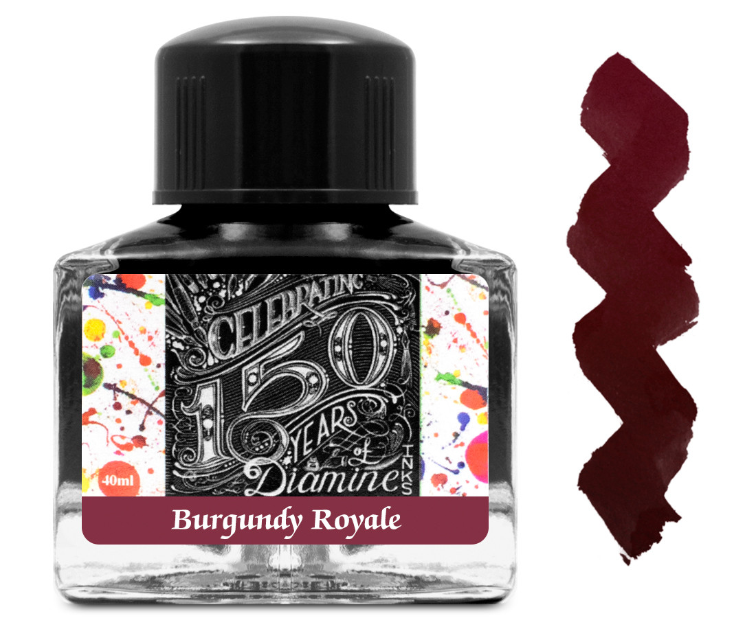 Diamine Ink Bottle 40ml - Burgundy Royale