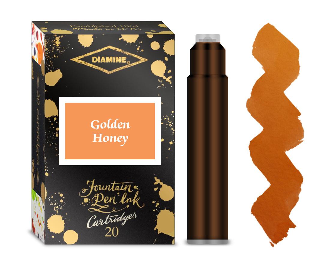 Diamine Ink Cartridge - Golden Honey (Pack of 20)