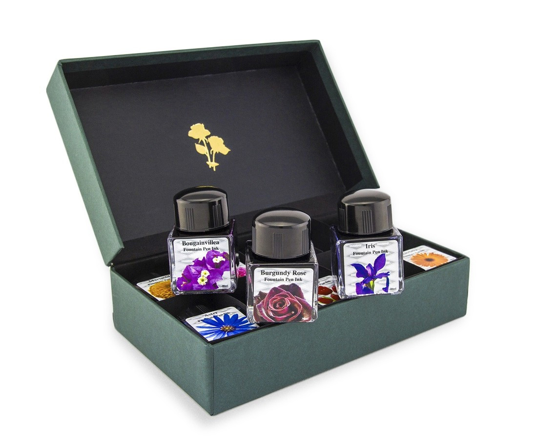 Diamine Ink Bottle Set - Assorted Flower Colours