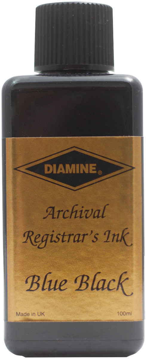 Diamine Ink Bottle 100ml - Registrar's Blue/Black