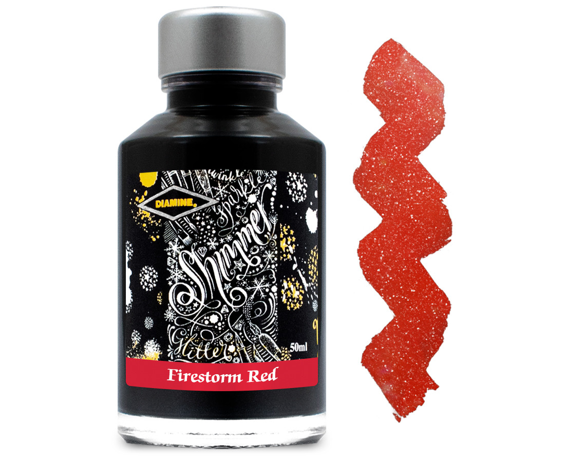 Diamine Ink Bottle 50ml - Firestorm Red