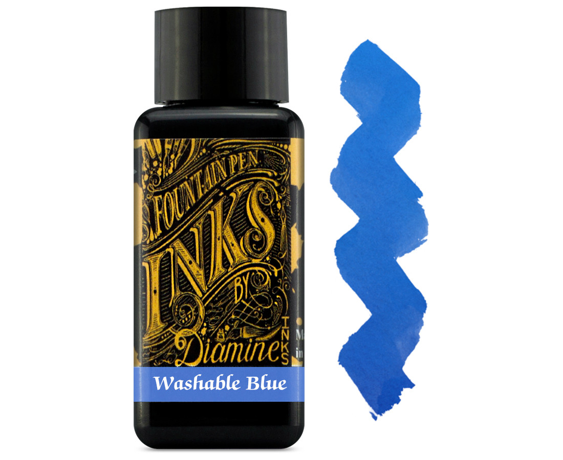 Diamine Ink Bottle 30ml - Washable Blue