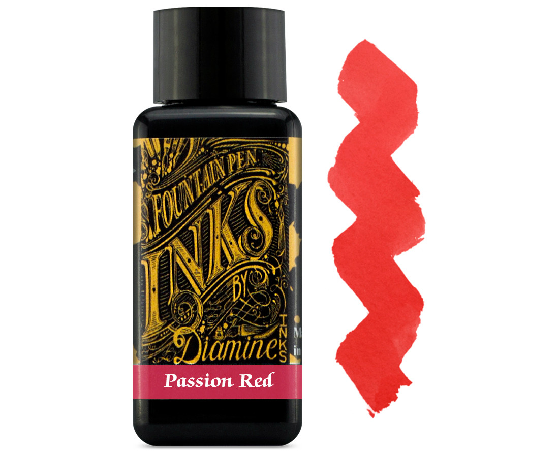 Diamine Ink Bottle 30ml - Passion Red