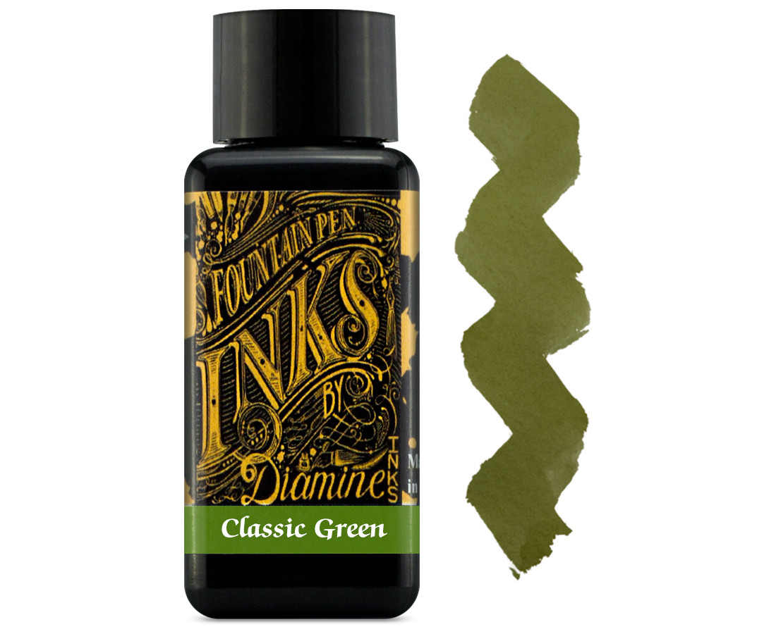 Diamine Ink Bottle 30ml - Classic Green