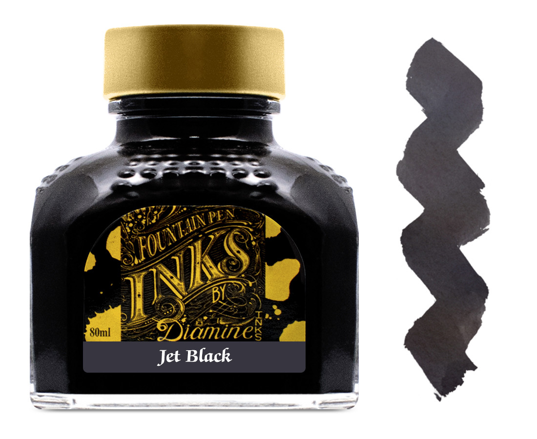 Diamine Ink Bottle 80ml - Jet Black