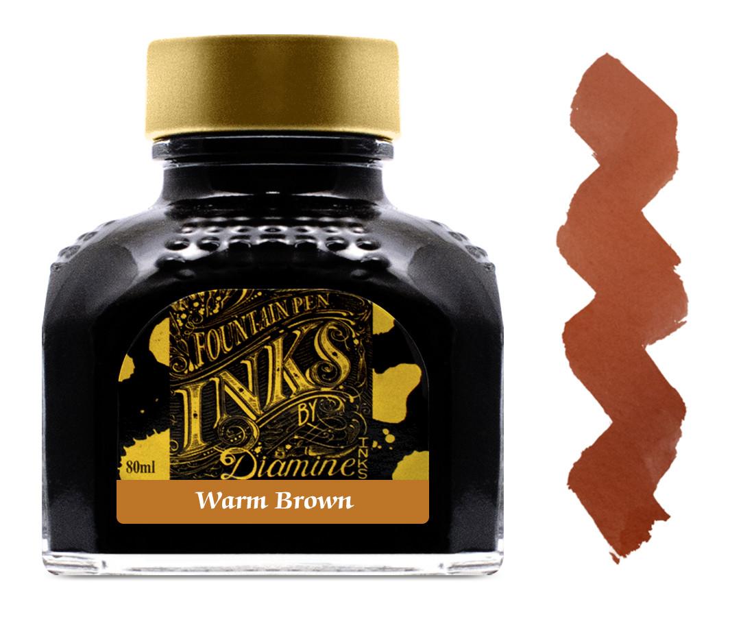 Diamine Ink Bottle 80ml - Dark Brown