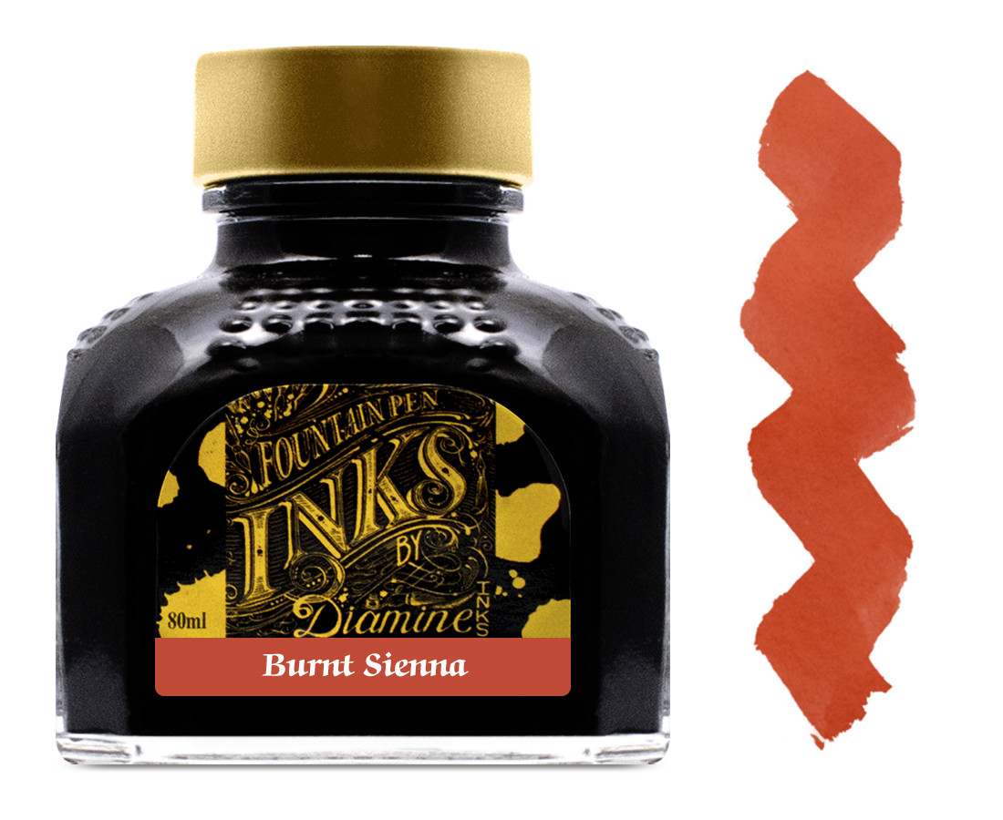 Diamine Ink Bottle 80ml - Burnt Sienna