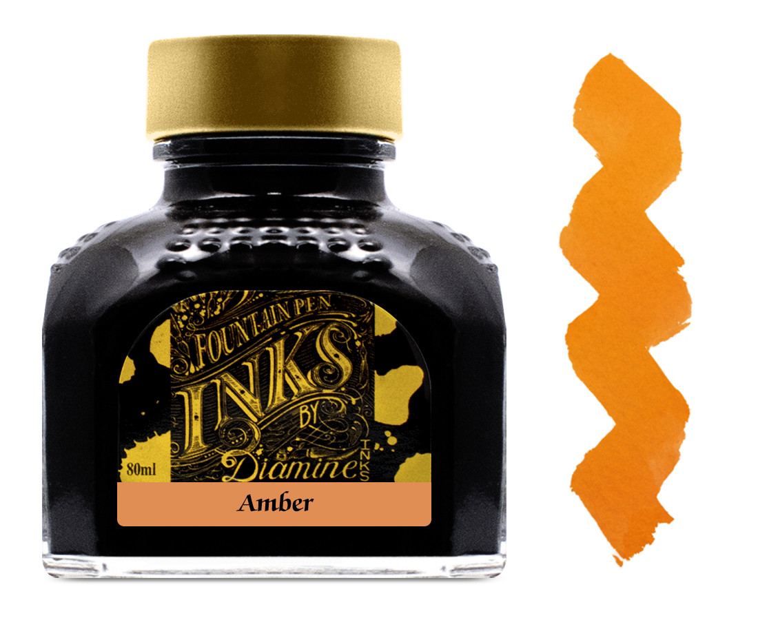 Diamine Ink Bottle 80ml - Amber