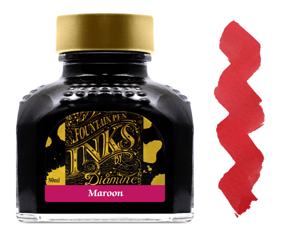 Diamine Ink Bottle 80ml - Maroon