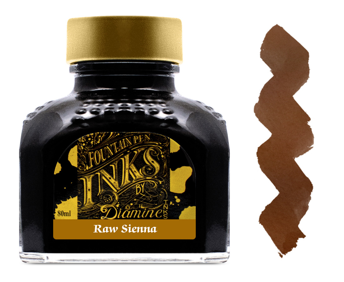 Diamine Ink Bottle 80ml - Raw Sienna