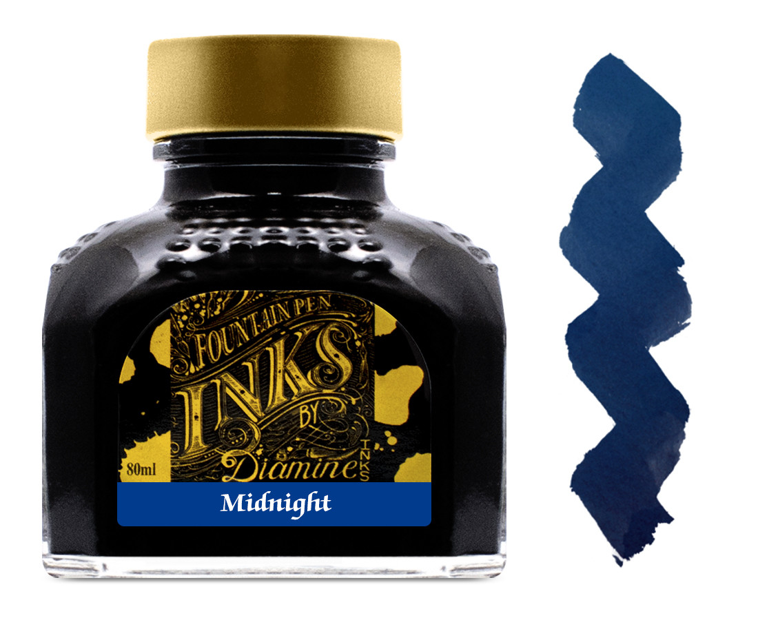 Diamine Ink Bottle 80ml - Midnight