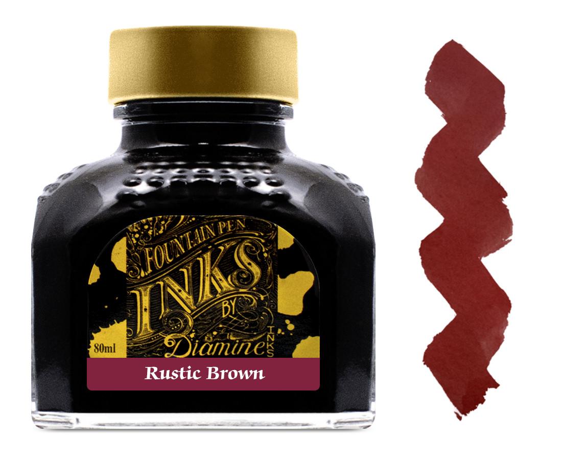 Diamine Ink Bottle 80ml - Rustic Brown