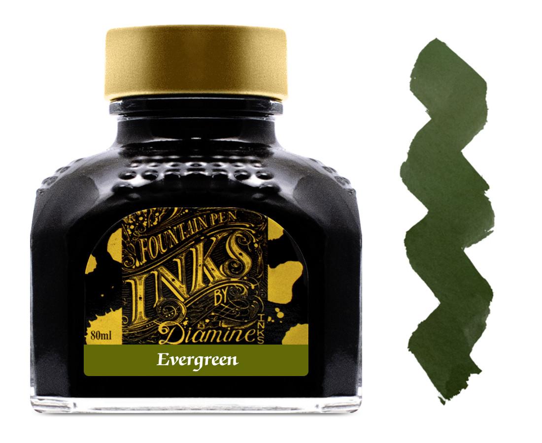 Diamine Ink Bottle 80ml - Evergreen