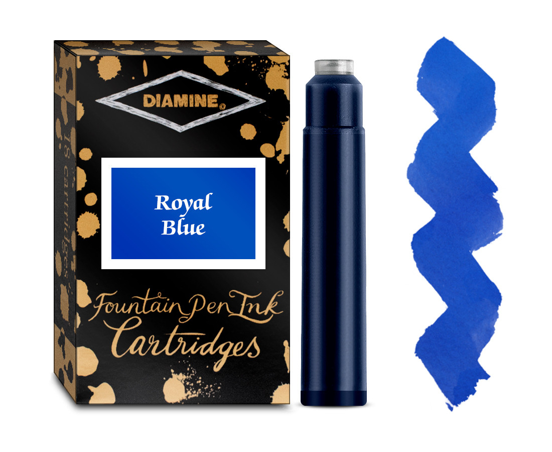 Diamine Ink Cartridge - Royal Blue (Pack of 18)