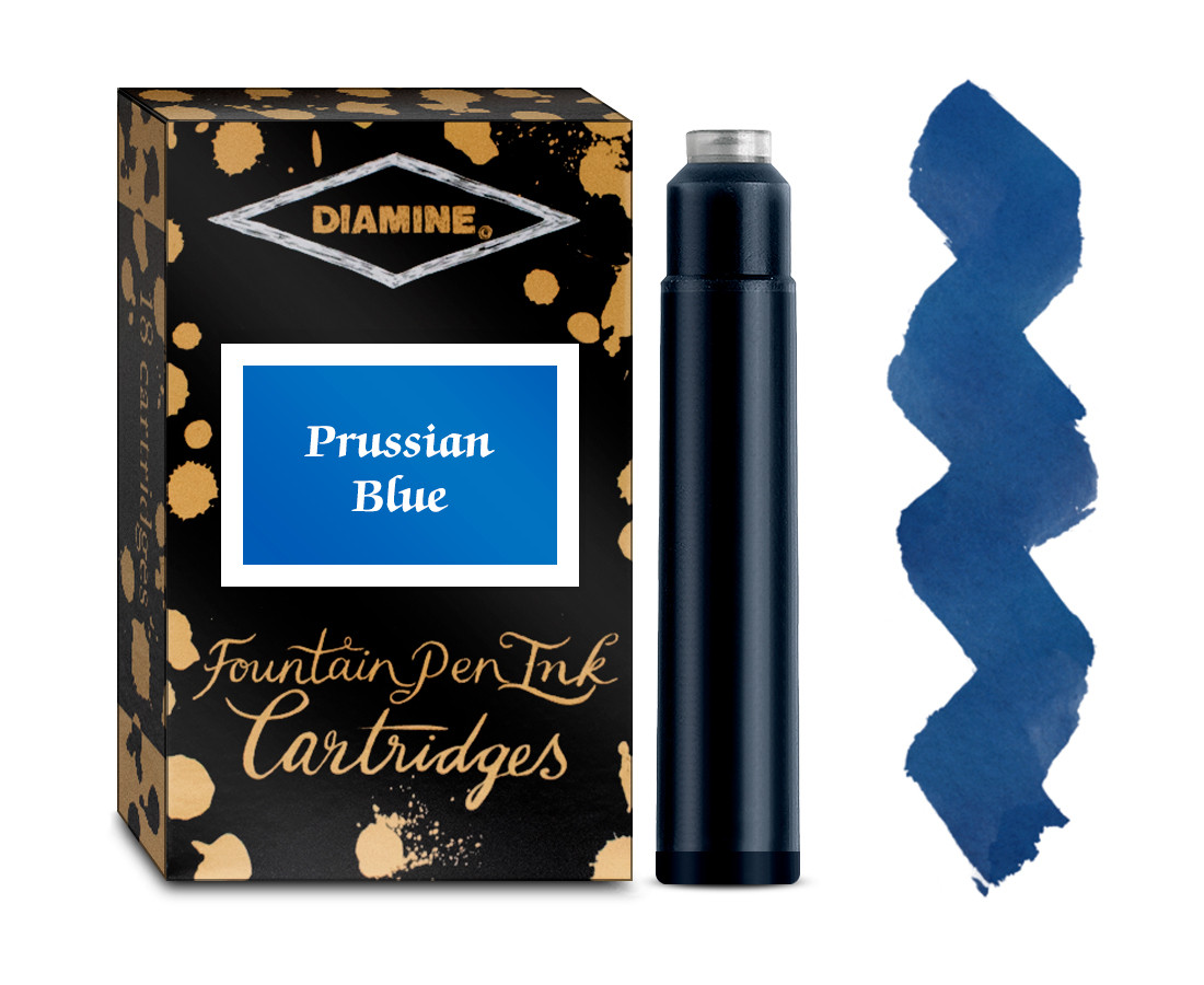 Diamine Ink Cartridge - Prussian Blue (Pack of 18)
