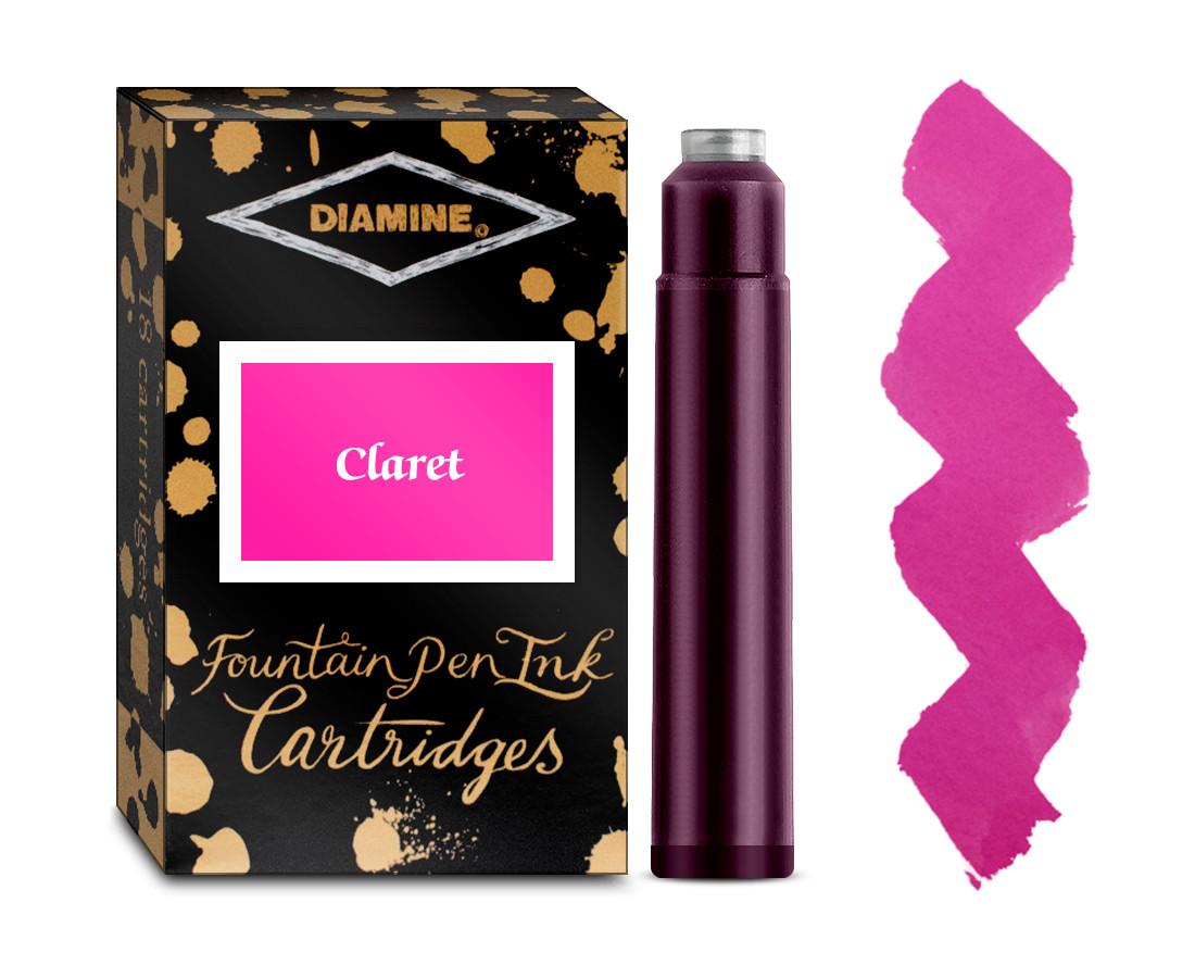 Diamine Ink Cartridge - Claret (Pack of 18)