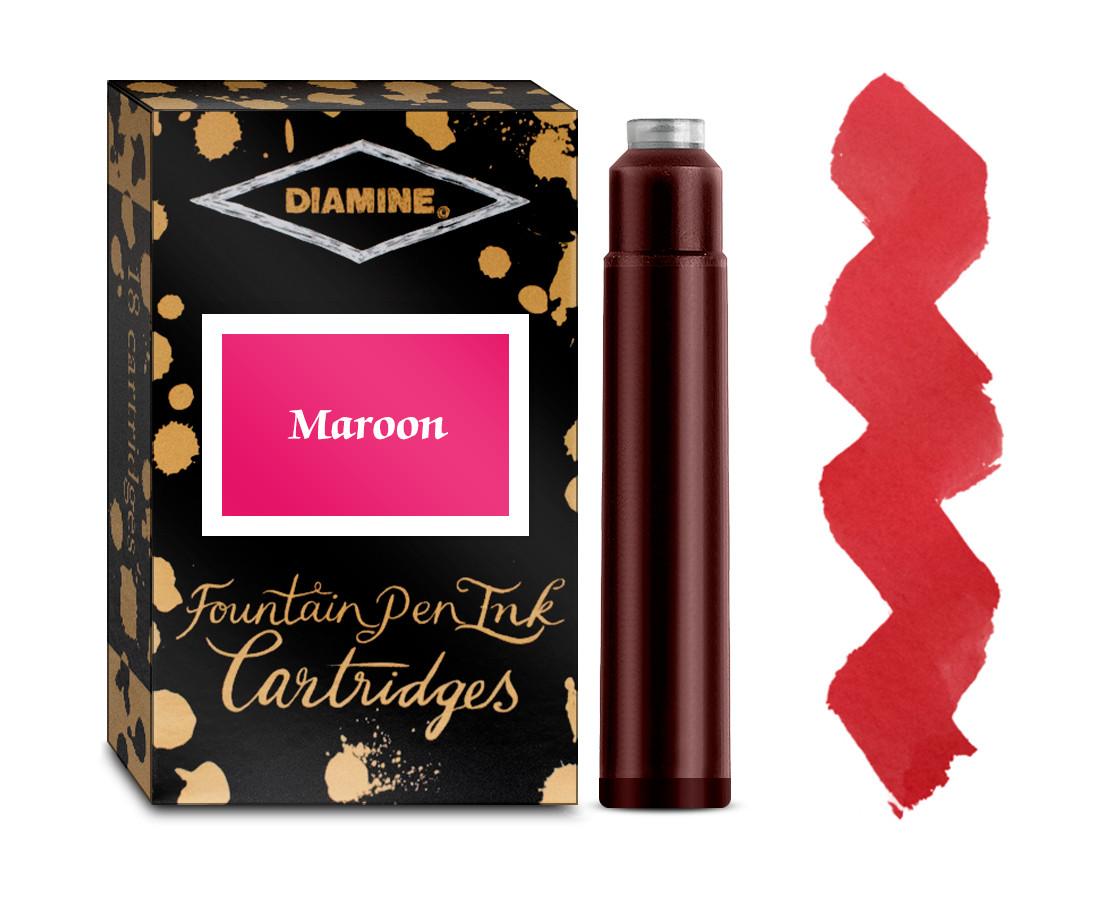 Diamine Ink Cartridge - Maroon (Pack of 18)